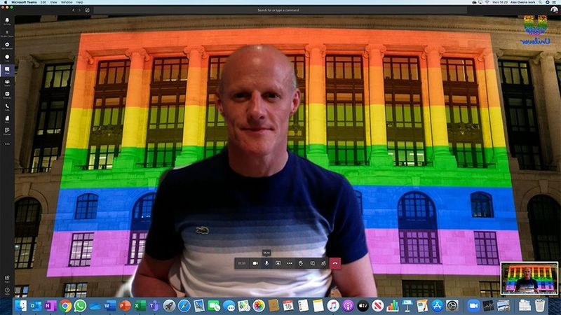 Alex Owens, founding member and corporate sponsor of proUd chose Unilever London HQ as his Pride background