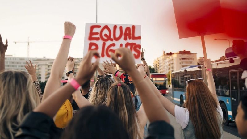 Protest on streets for equal rights