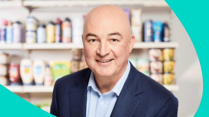 A headshot of Alan Jope, CEO of Unilever