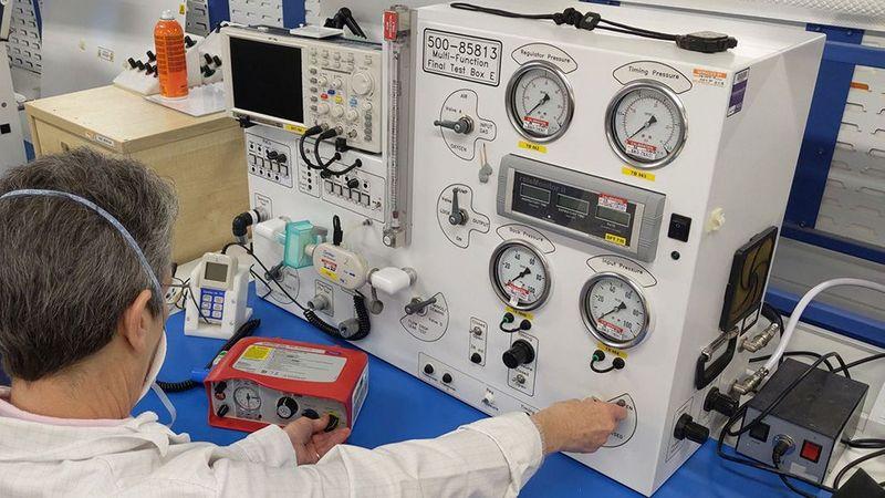 Ventilator machine operating