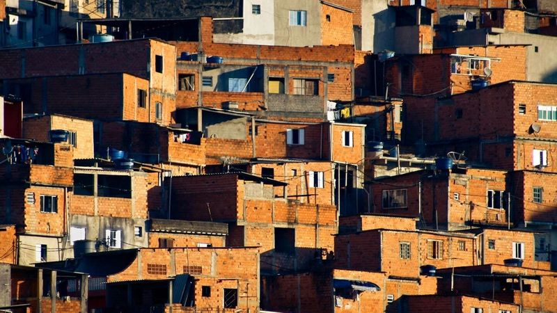 A photograph of the favelas in São Paulo.