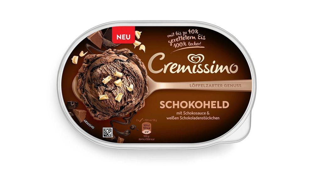 Cremissimo chocolate ice cream tub