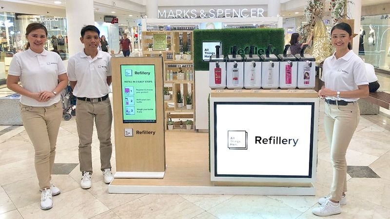 Refillery at marks and spencers