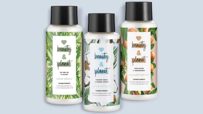 Love Beauty and Planet's fast-rinse hair conditioners