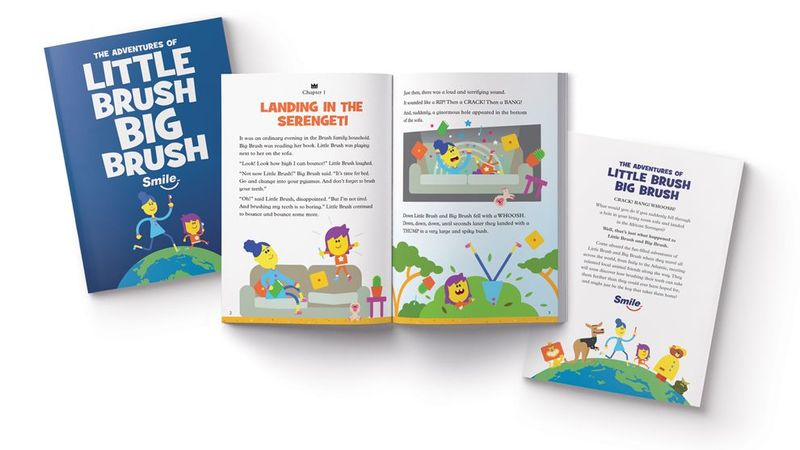The Adventures of Little Brush Big Brush, a bedtime story book to remind children to brush their teeth