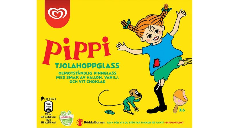 Responsibly Made for Kids Pippi Longstocking ice cream
