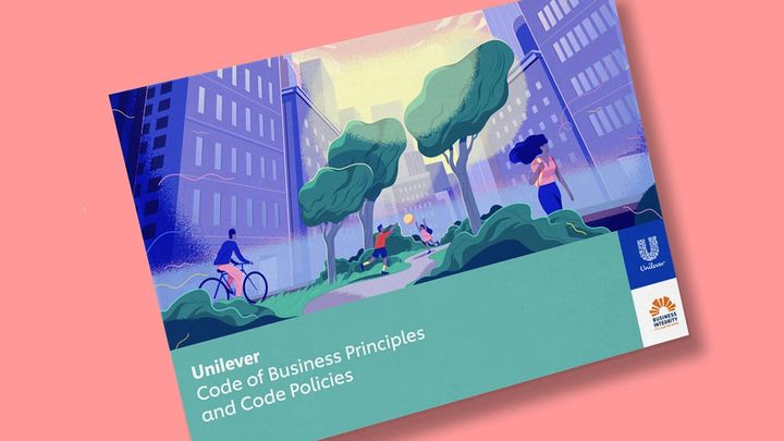 A shot of the Unilever Code of Business Principles document