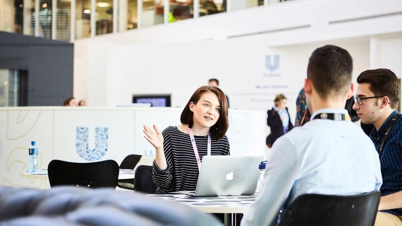 Unilever employees in UK Leatherhead office