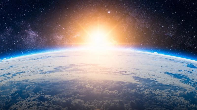 Sunrise over the earth