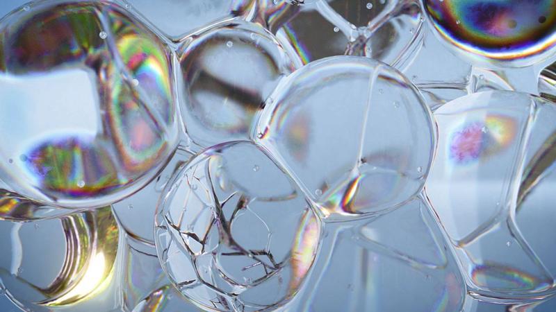 Close up shot of bubbles