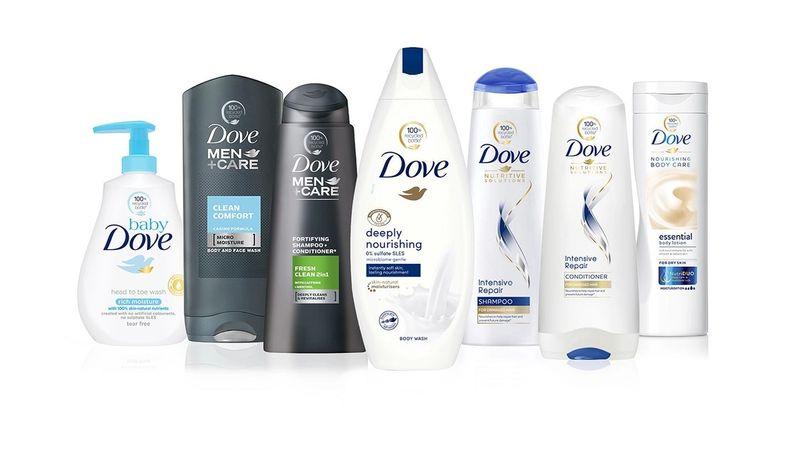 Dove bottles