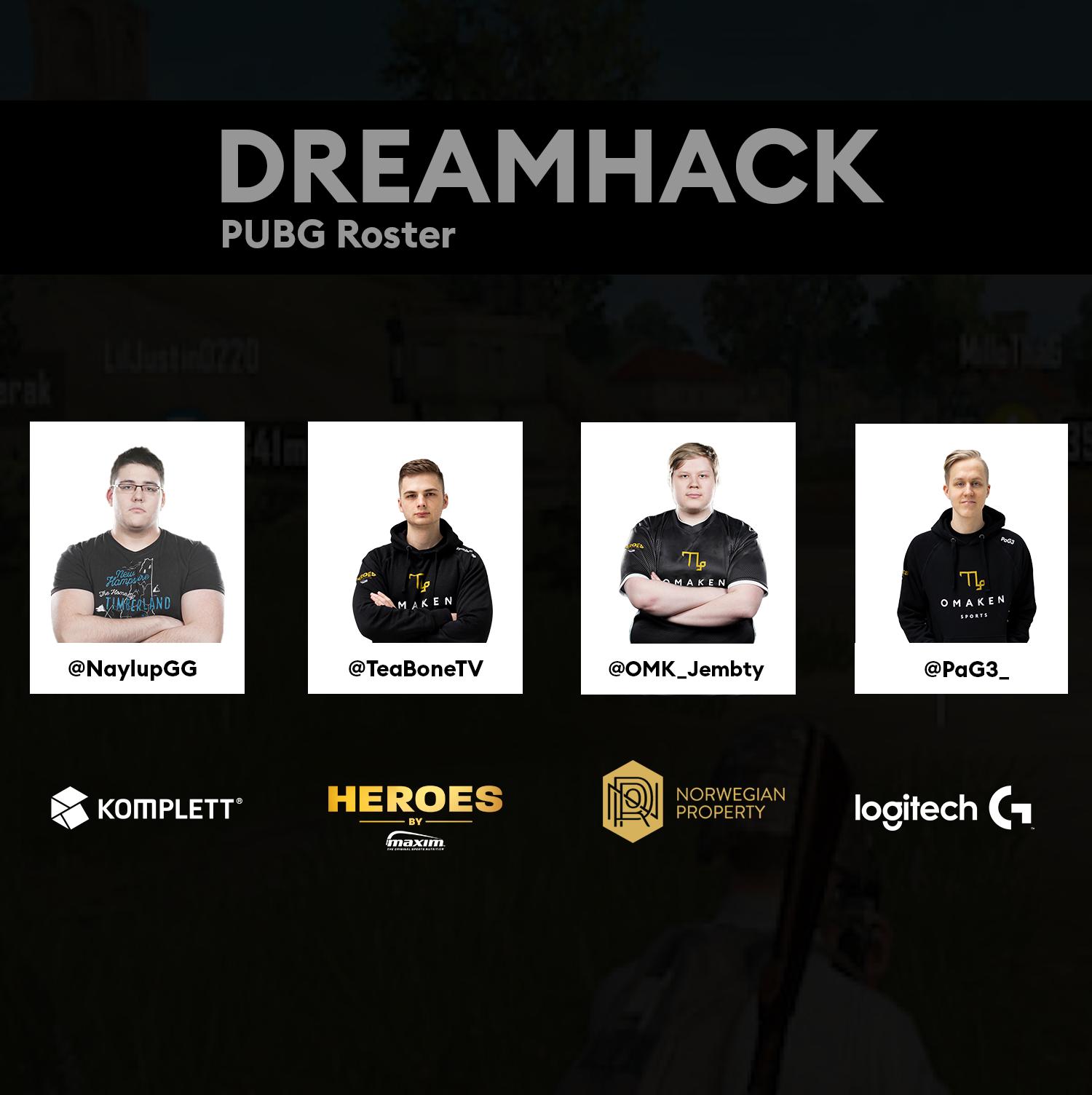 Omaken Sports PUBG roster change