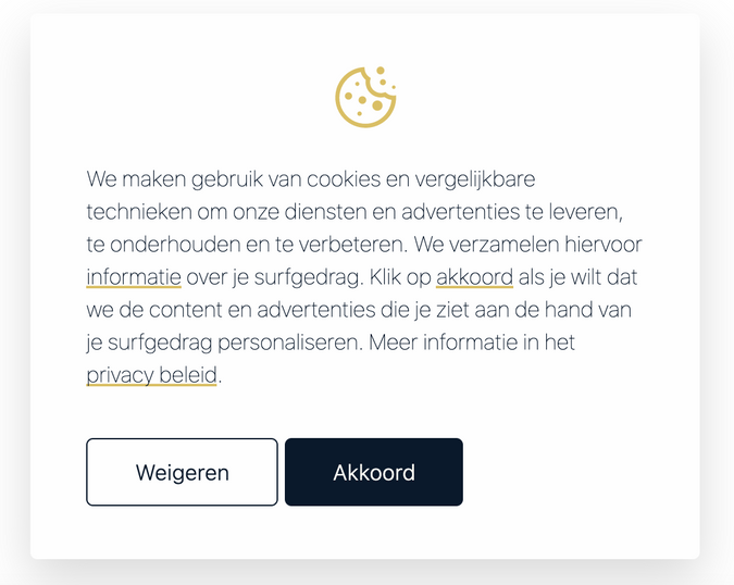 cookie banner consent toestemming
