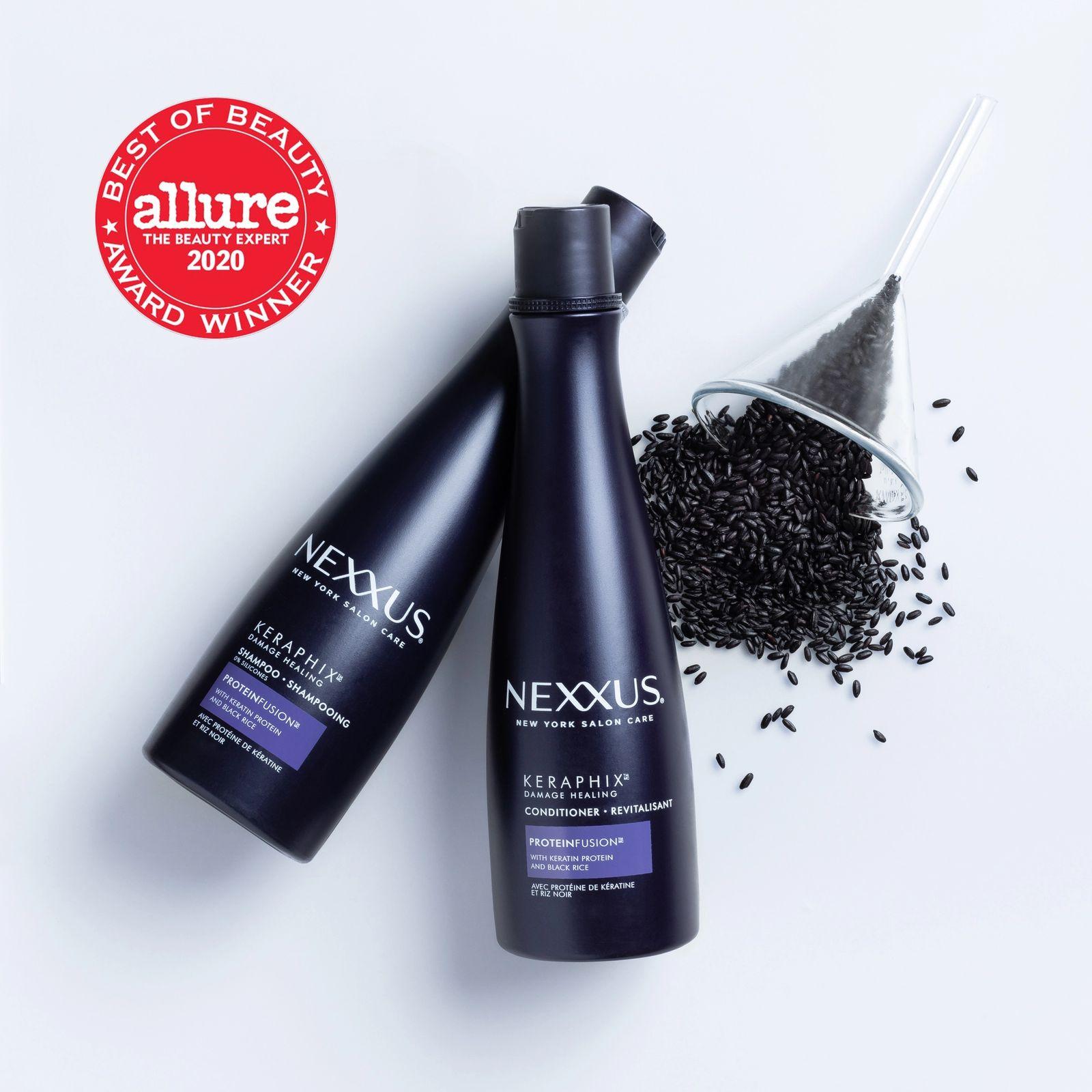 nexxus keraphix shampoo and conditioner and allure logo 2020 beauty winner
