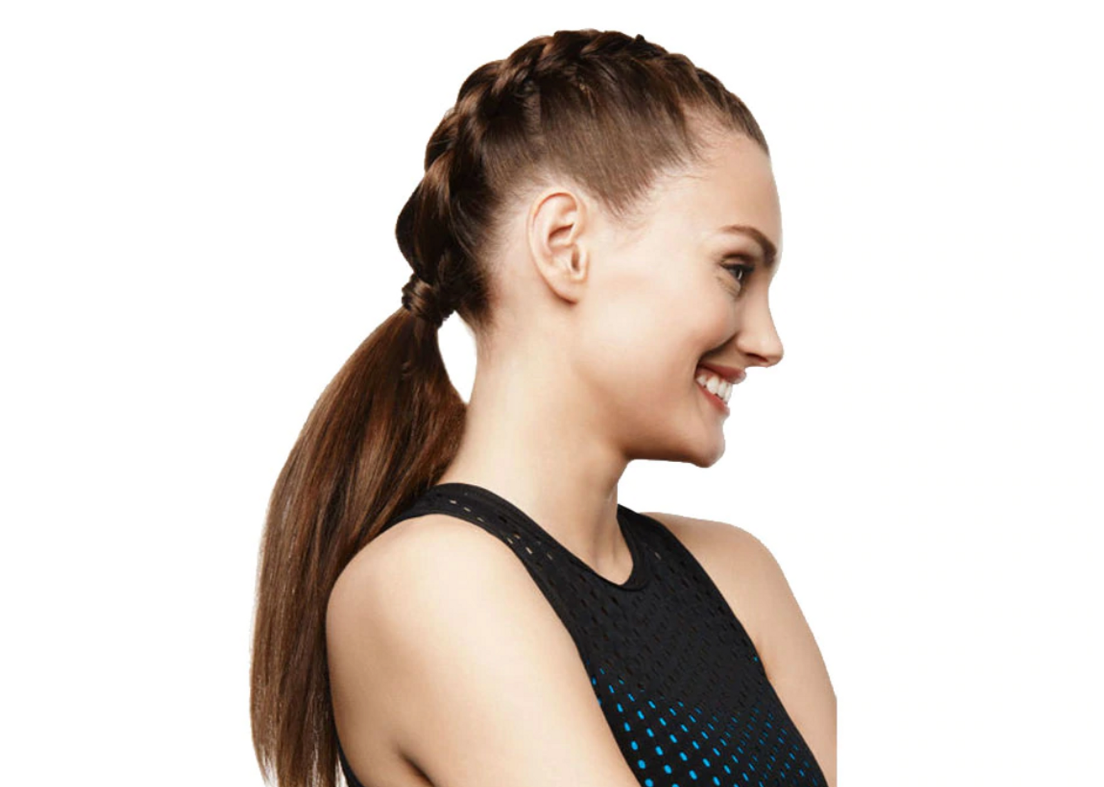 Girl in braided ponytail