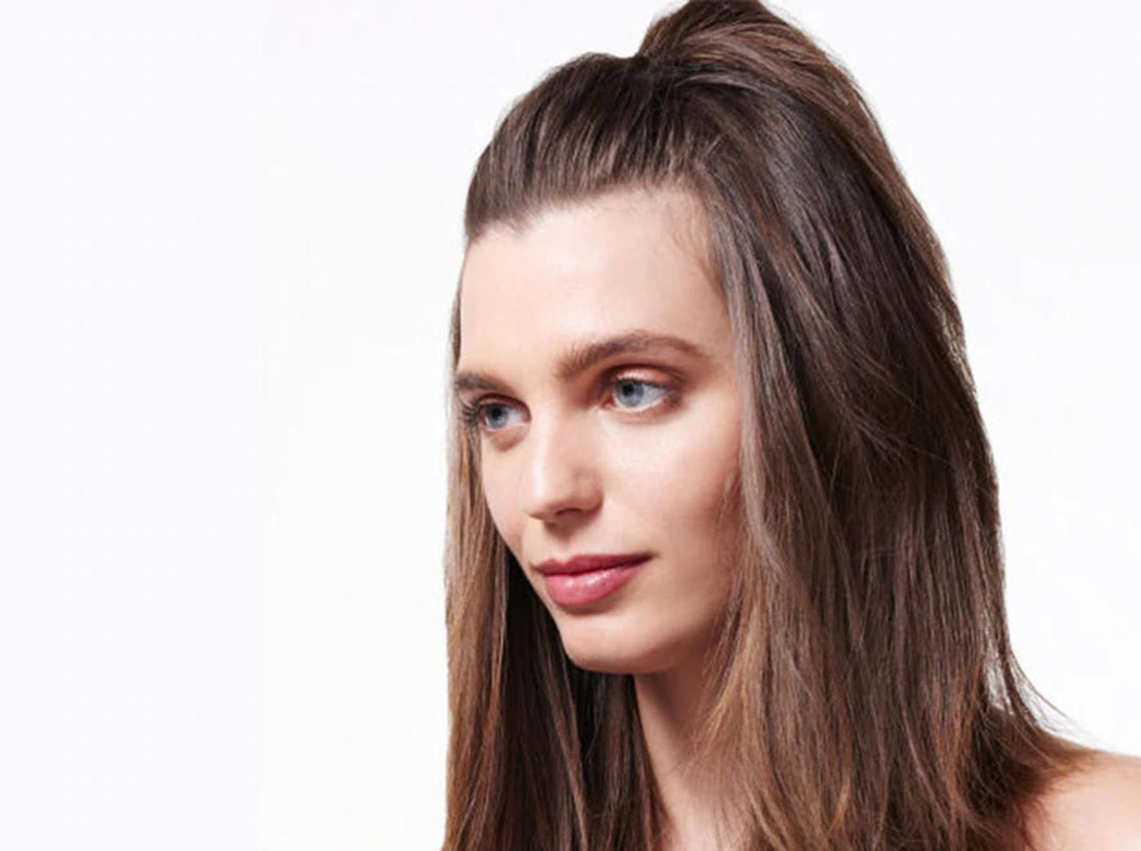 Model with Half Down Hairstyle