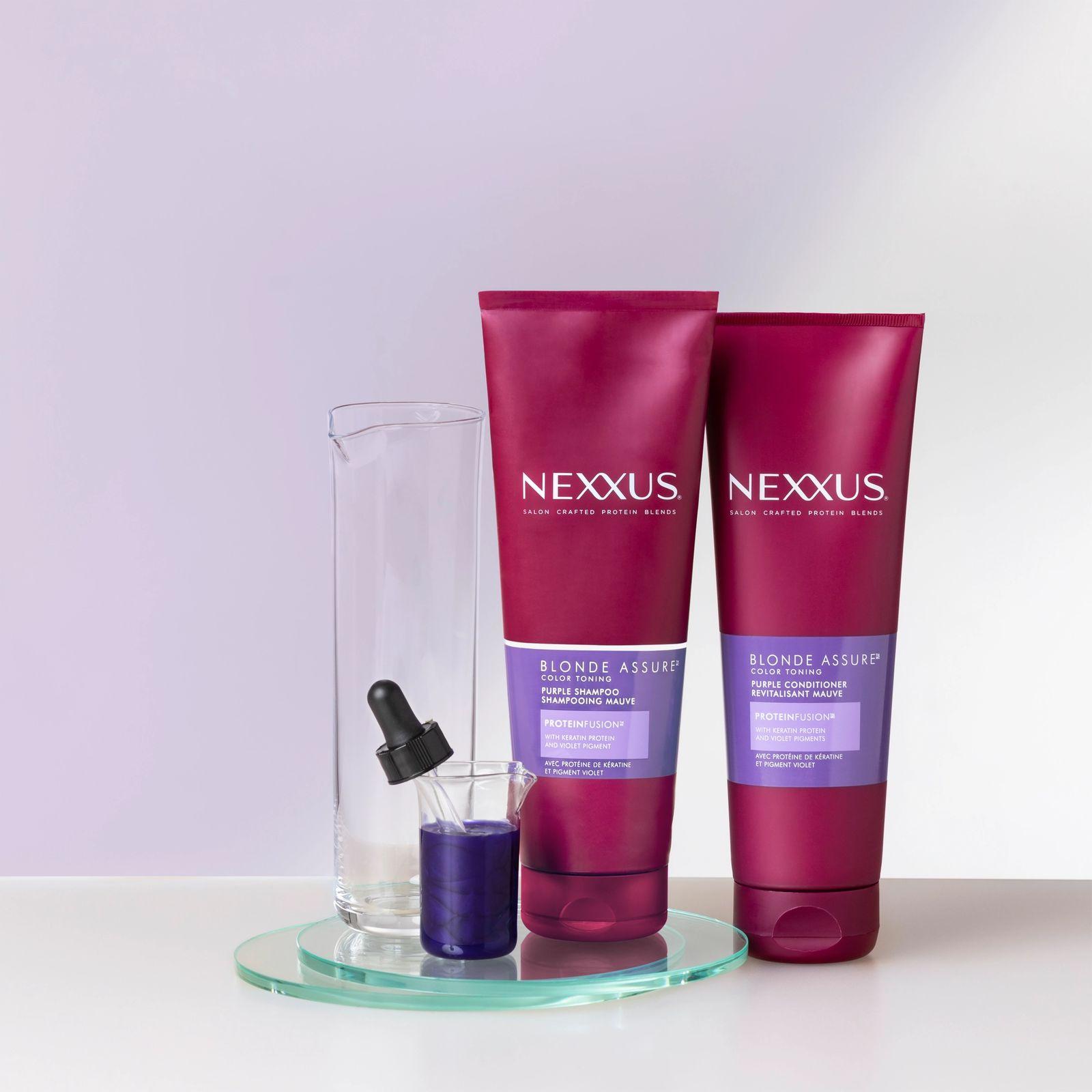Nexxus Blonde Assure Purple Shampoo & Conditioner Product Shot