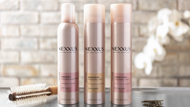 A set of Nexxus styling products