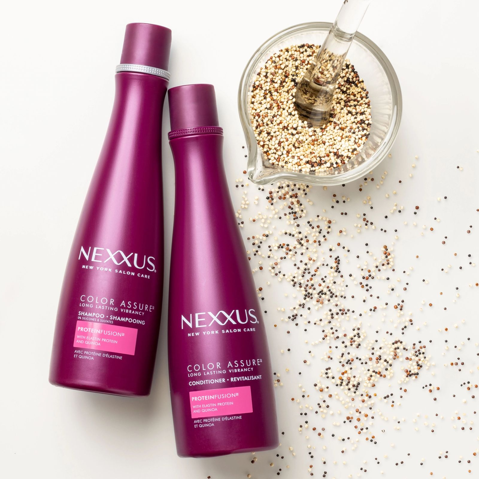 Nexxus Color Assure Shampoo & Conditioner for Color Treated Hair Product Shot