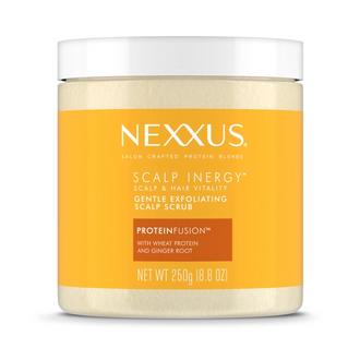 Front of Pack Nexxuss Scalp Inergy Gentle Exfoliating Scalp Scrub 8.8oz, Nexxus Scalp Inergy Scalp Scrub