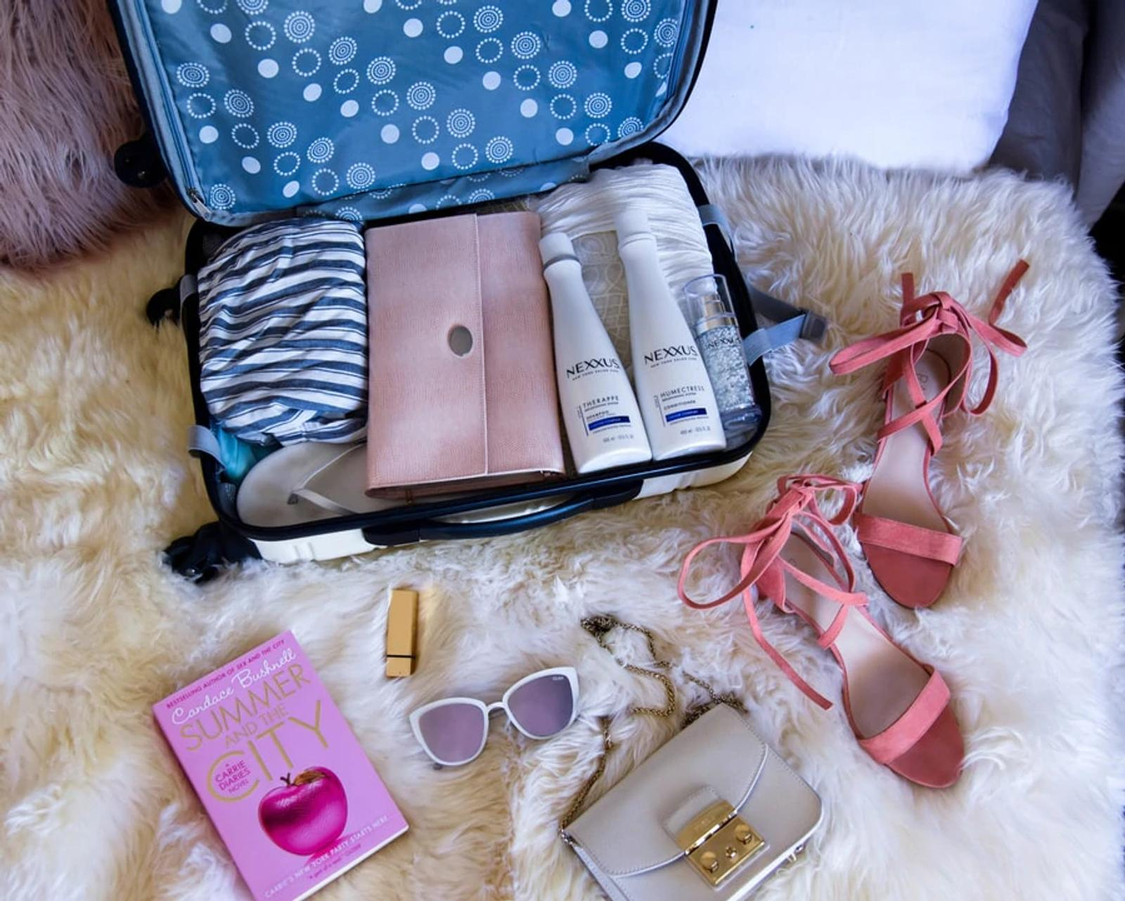 Image Open Suitcase with Hair Product