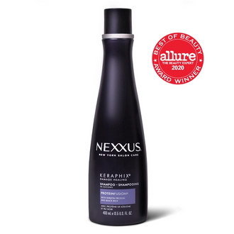 Front of Pack Nexxus Keratin Hair Shampoo Keraphix 13.5 FO, nexxus keraphix shampoo