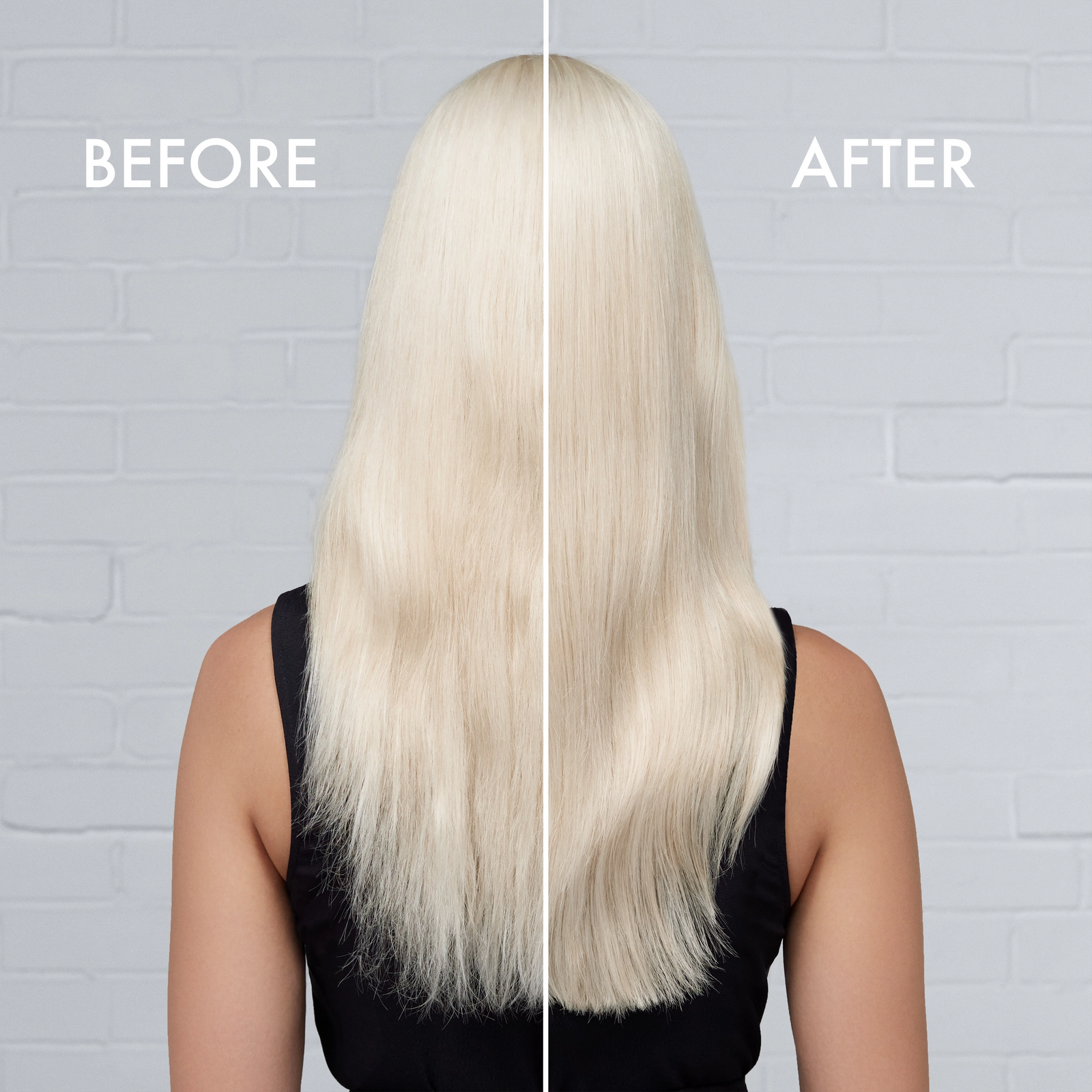 Prevent & Repair Bleached Hair Damage Before & After Shot
