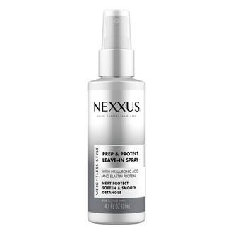 nexxus prep & protect leave-in spray, front of pack