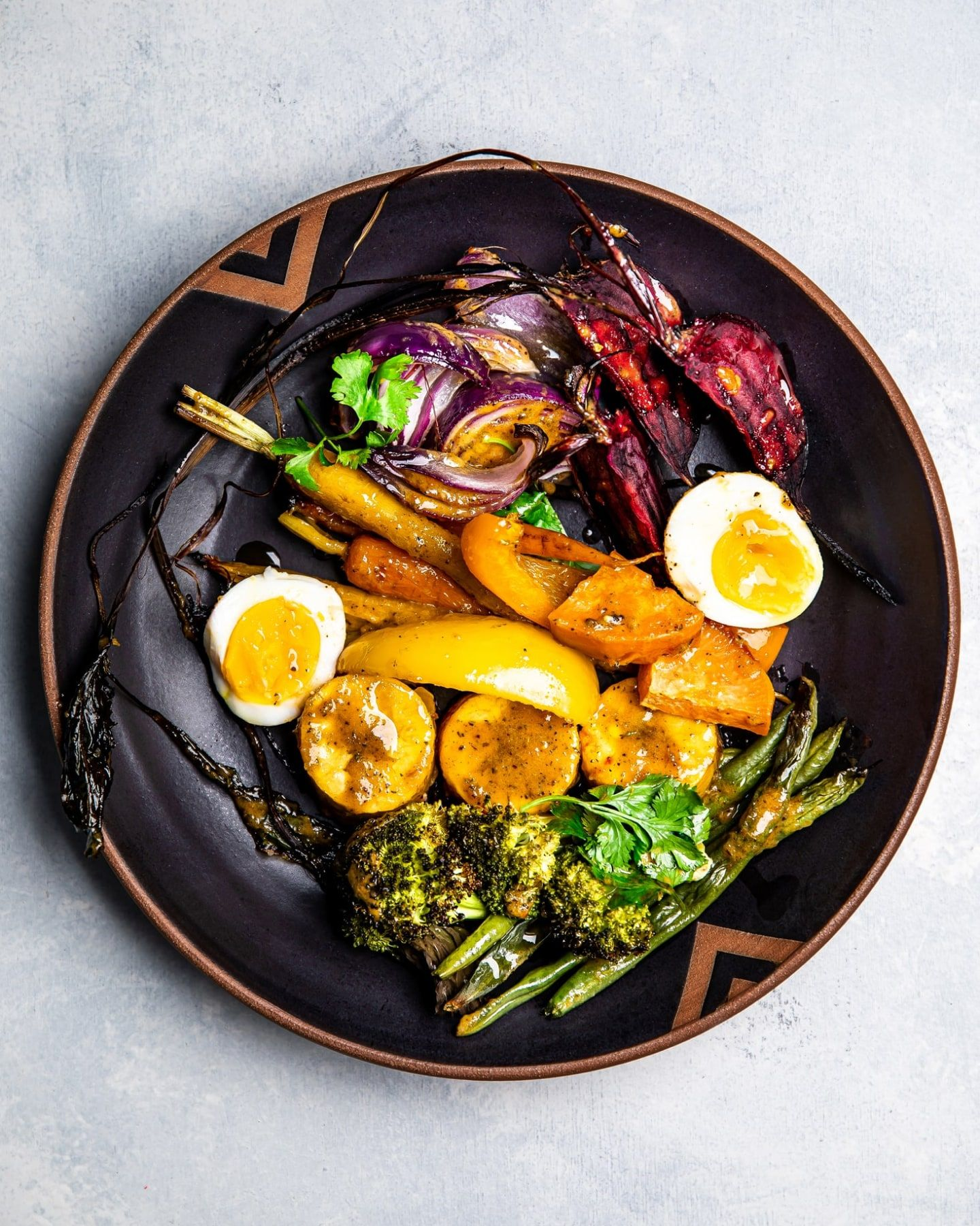 Jerk Veggies with 7-Minute Eggs