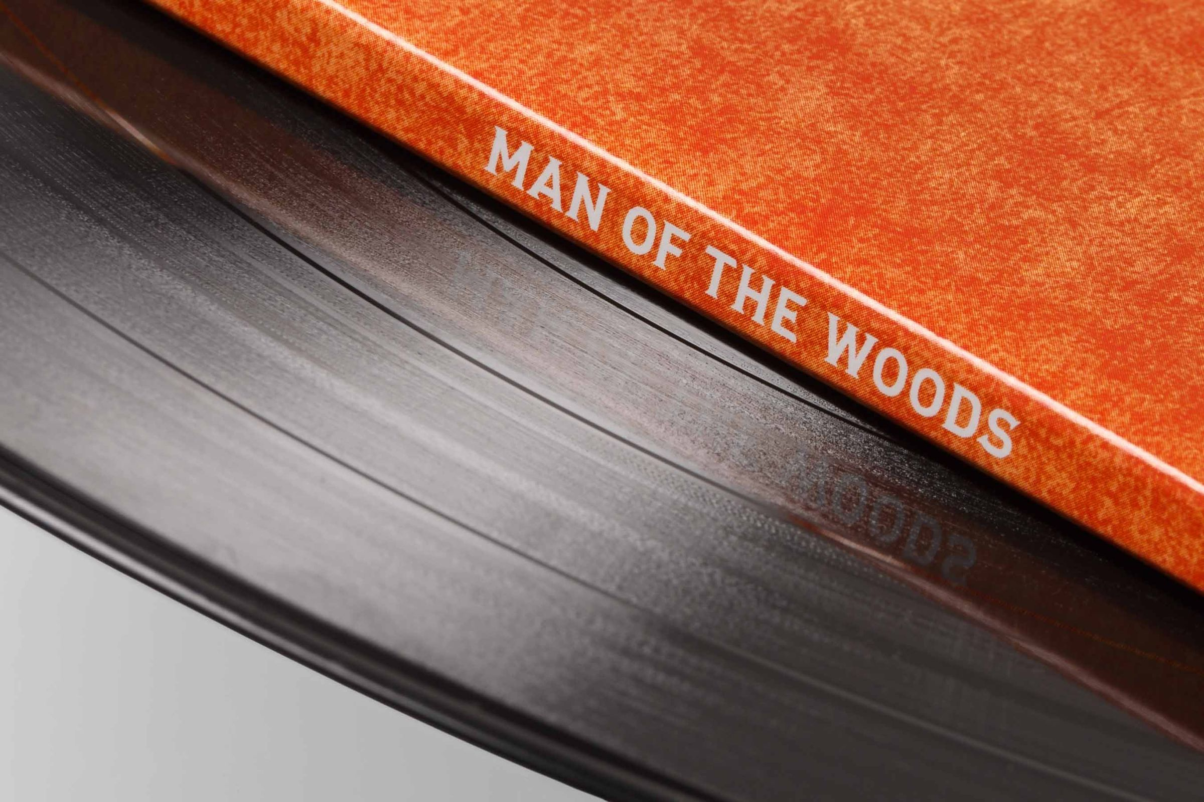 Man of the Woods vinyl zoomed in