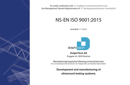 DOLPHITECH NOW ISO9001:2015 CERTIFIED