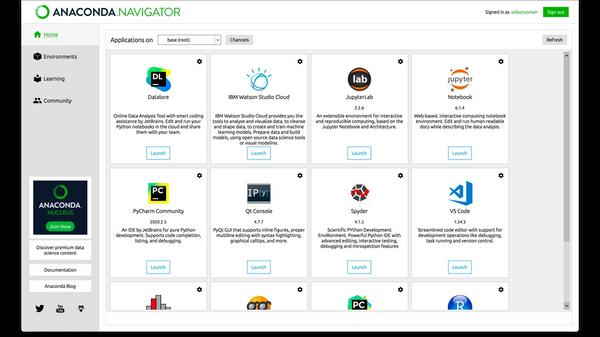 Anaconda Navigator screenshot