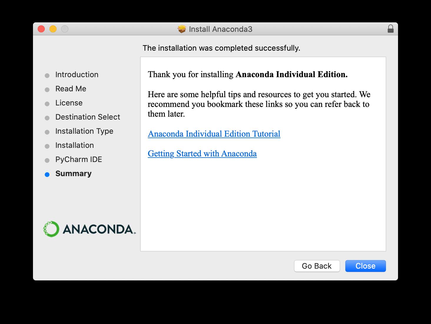 Anaconda installer screenshot step 6