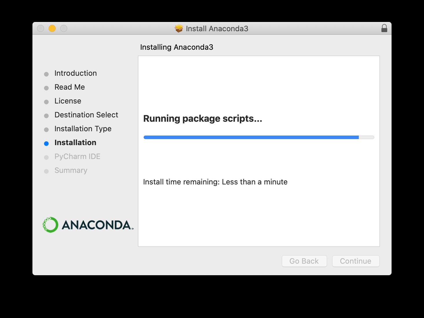 Anaconda installer screenshot step 5