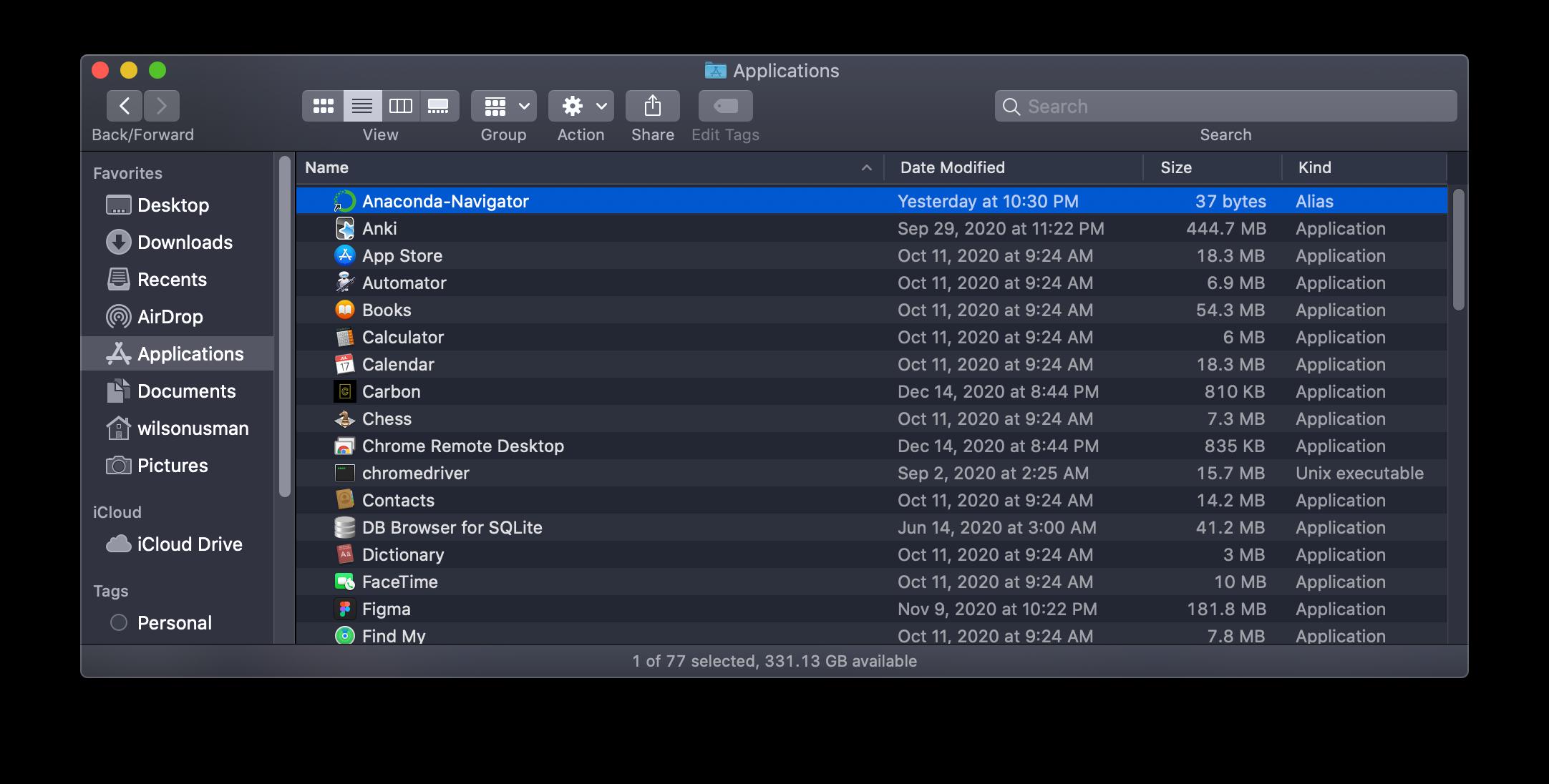 Anaconda installer screenshot step 7