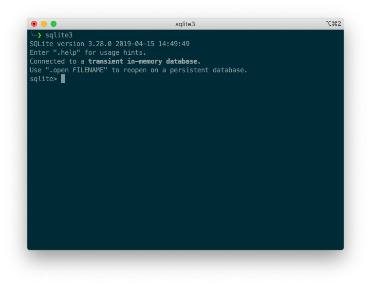 sqlite3 terminal command