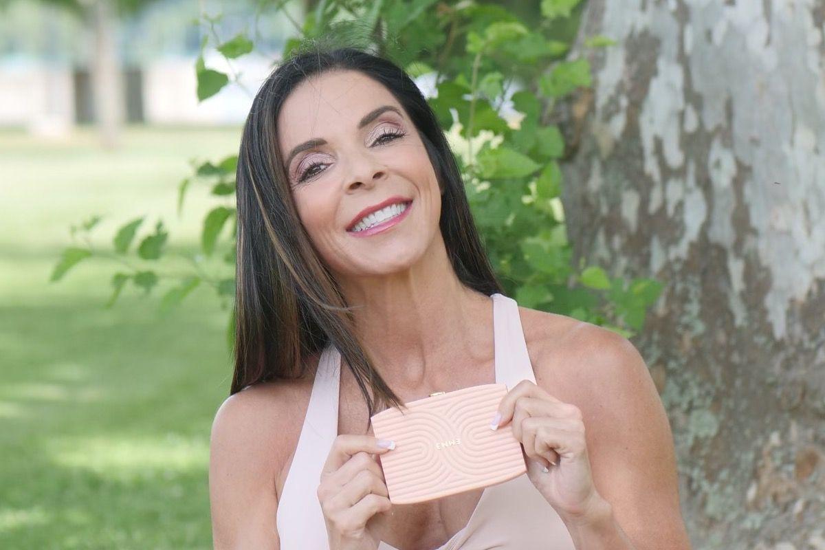 Dr. Janine Delaney holding an Emme Smart Case