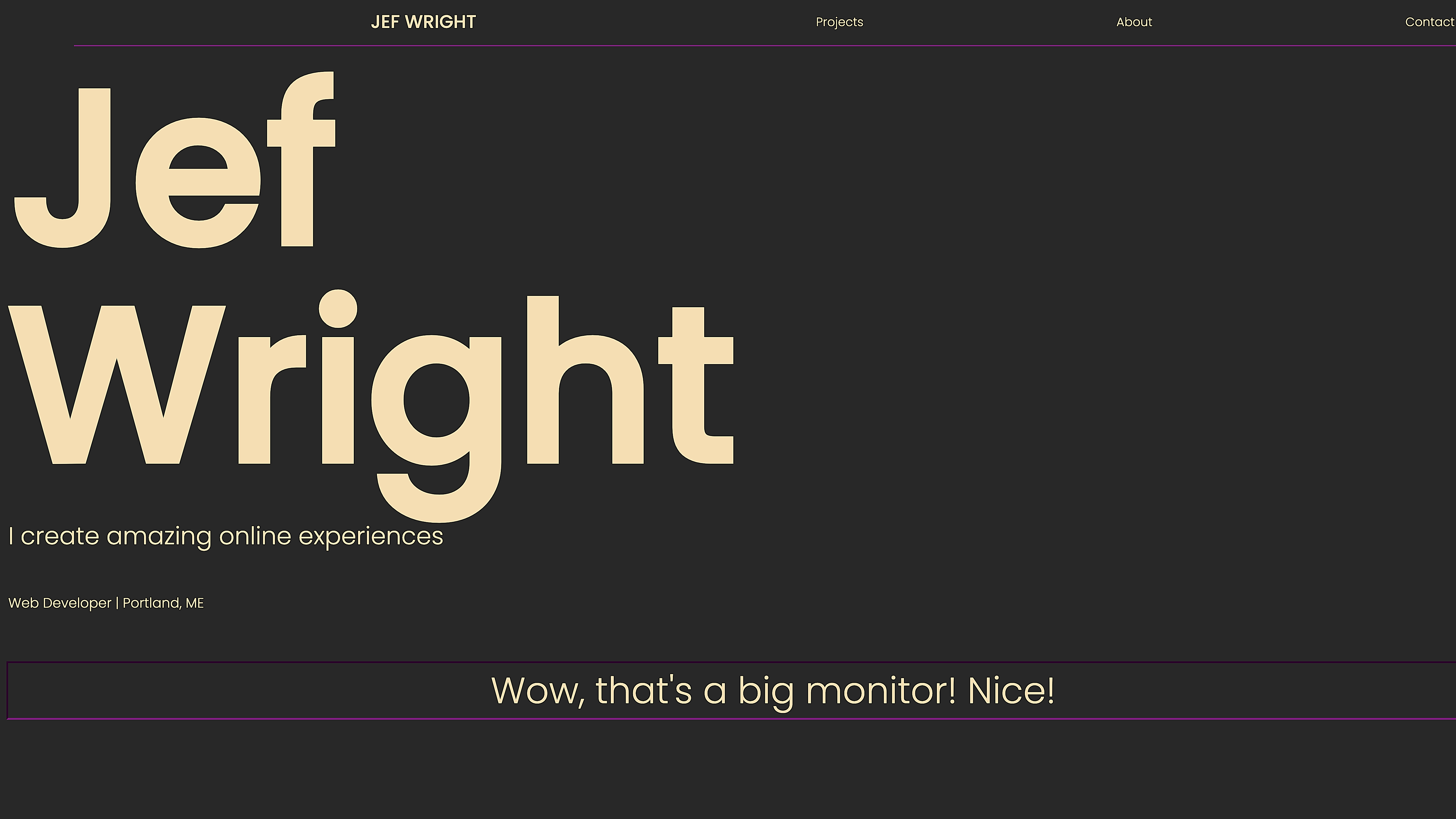 Jef Wright Personal Site
