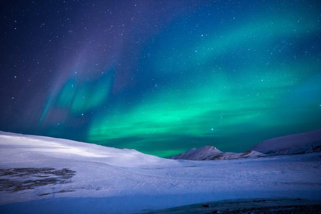 aurora borealis during winter in Iceland