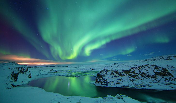 northern lights captured in the south in november
