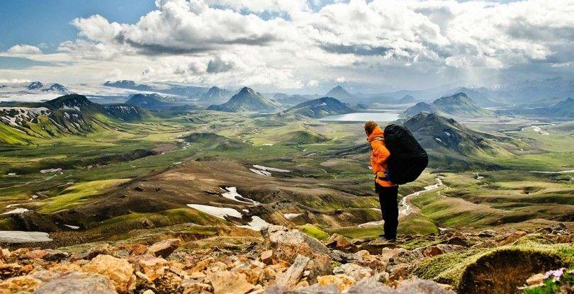 hiking scenery outside of Reykjavik in april