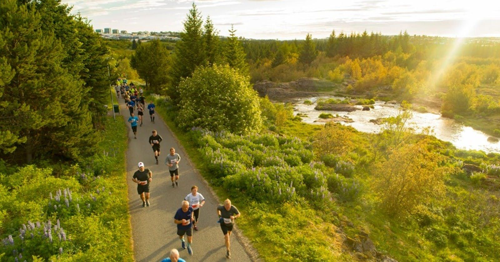 Runners in the midnight run
