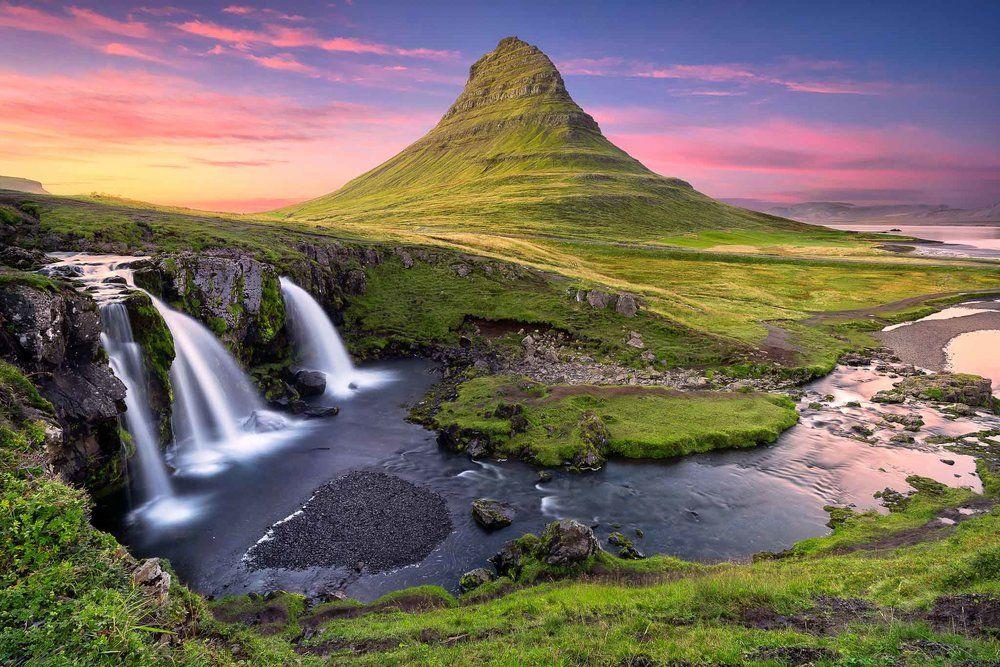 Kirkjufell mountain during summer
