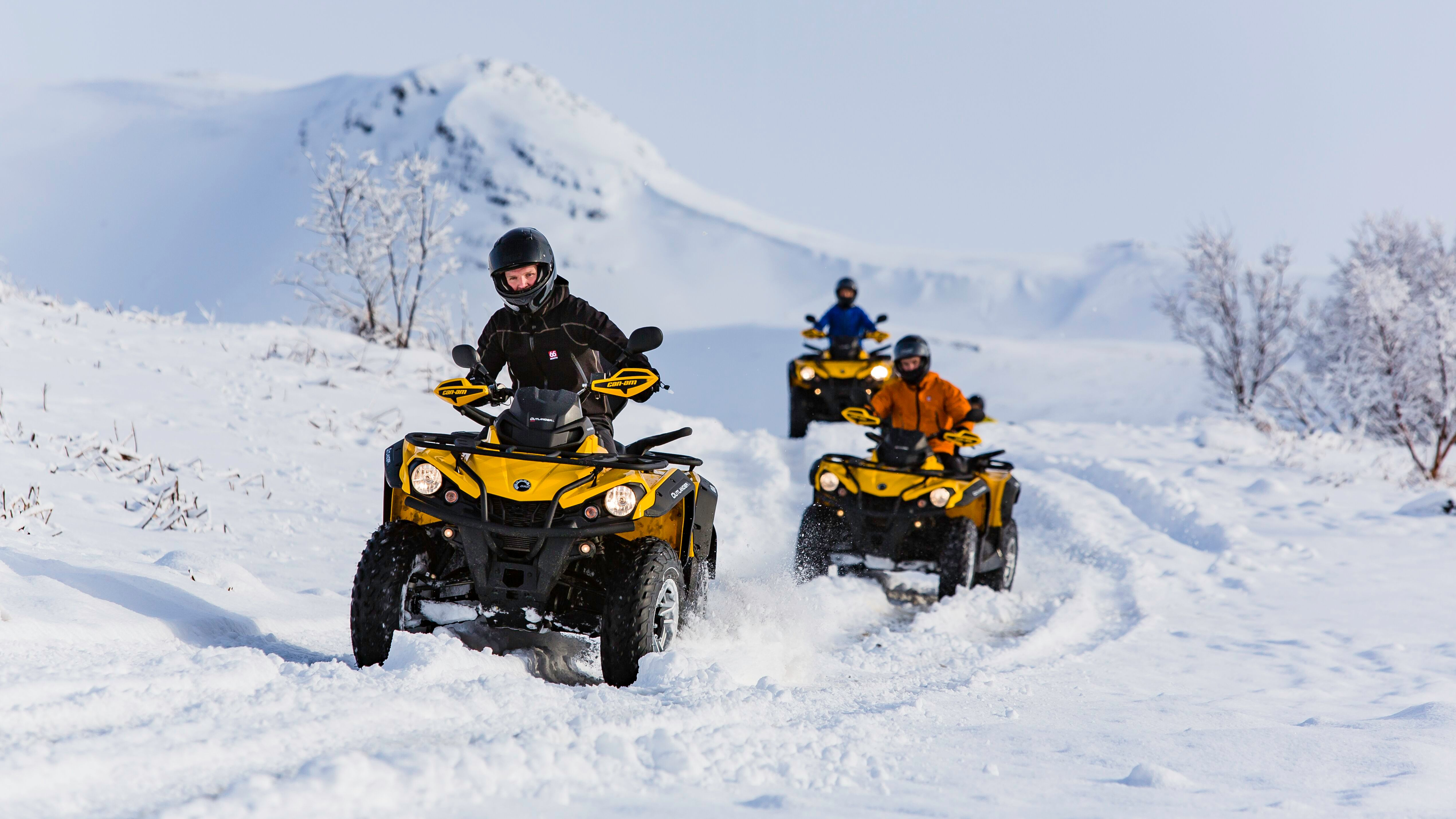 ATV QUAD BIKE tour on snowy mountains in Reykjavik