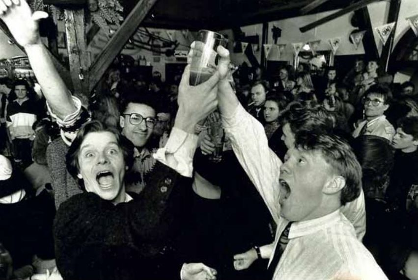 Icelanders celebrate on the 1st. of March 1989