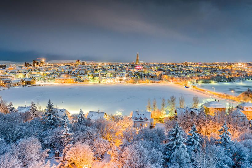 Reykjavik during christmas