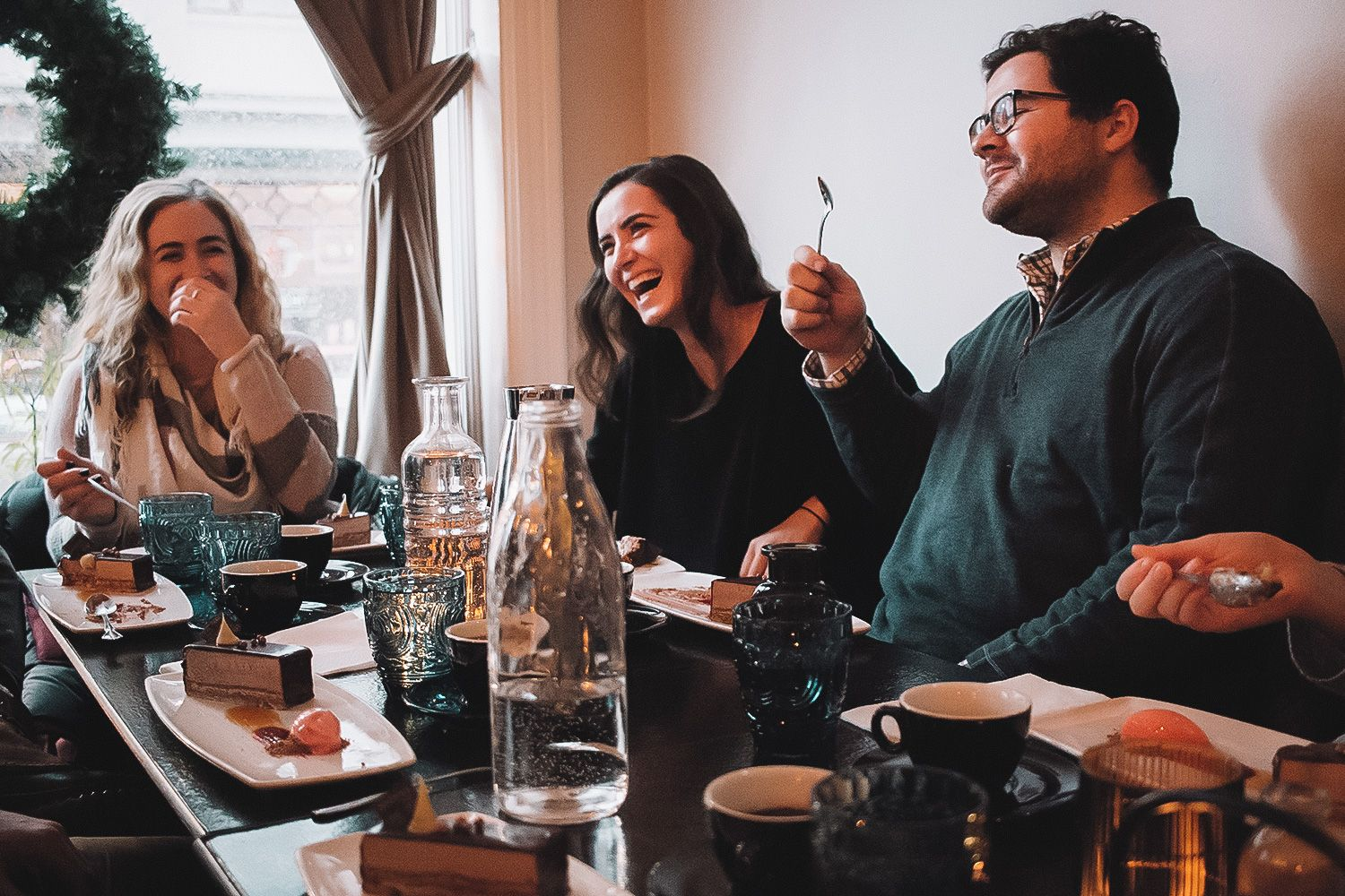 Guests enjoying an Icelandic food tasting