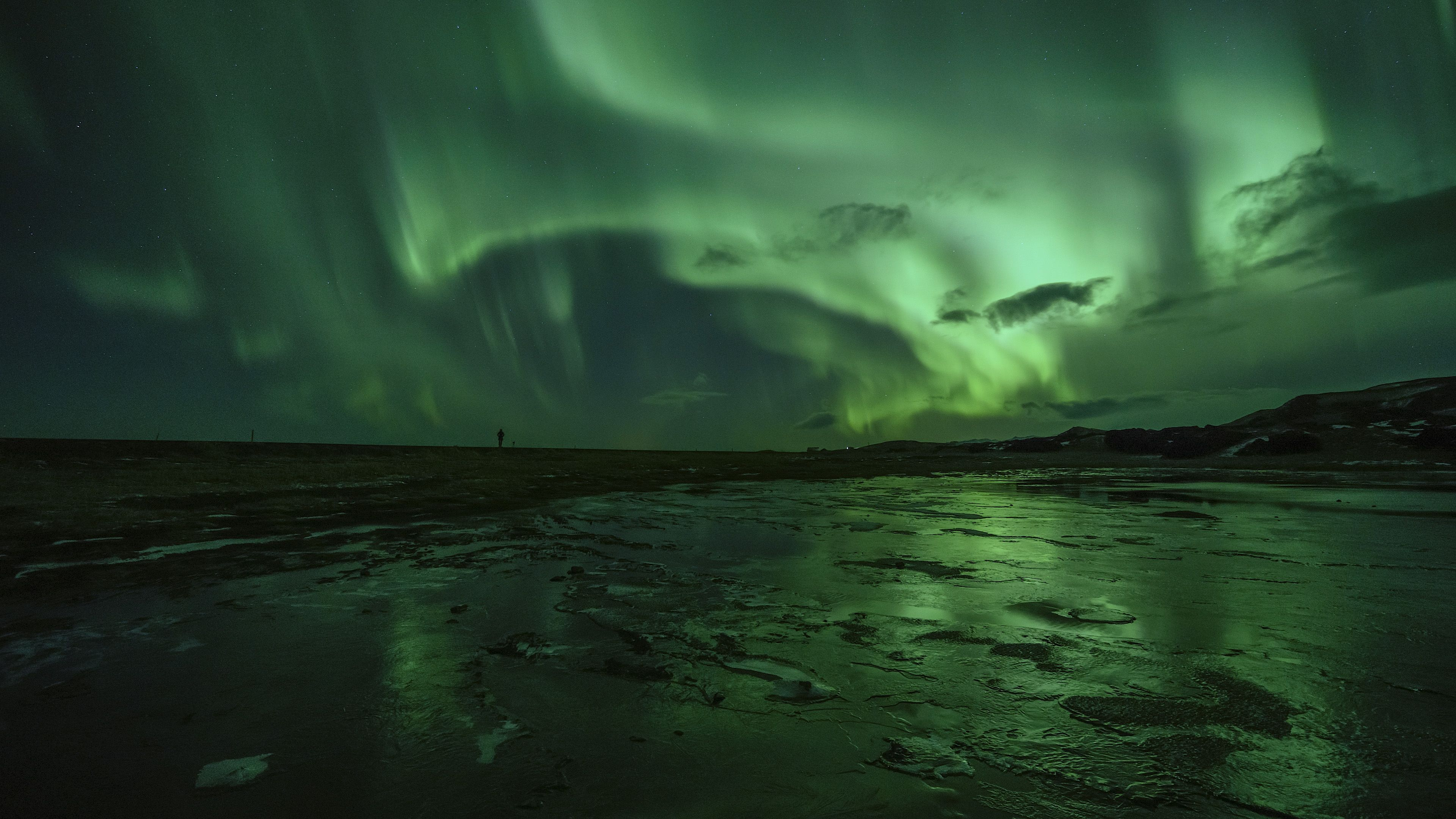northern lights in Iceland during winter
