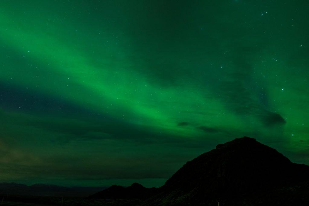 Northern lights seen in Reykjavik