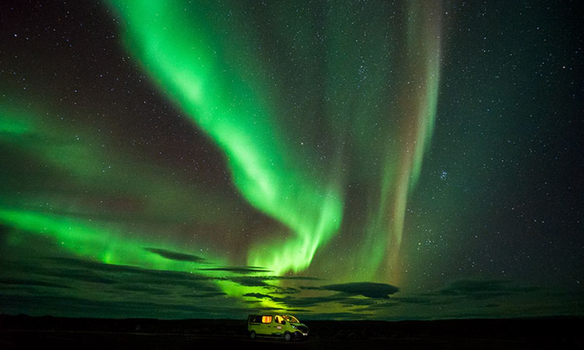 northern lights sighting in Iceland